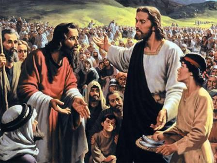 Jezus voedt een menigte