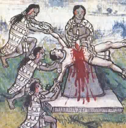 Mensen offer bij de Azteken