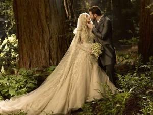 Huwelijksfoto van Sean en Alexandra Parker