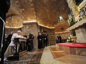 Paus Franciscus in Assisi