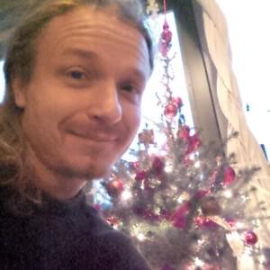 Kerstboomselfie