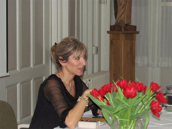 Constanza Miriano bij de boekpresentatie in Den Bosch.