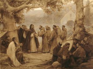 José Benlliure y Gil, Ontmoeting tussen de H. Franciscus van Assisi en de H. Dominicus.