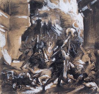 Robert Sterl, Kindermord von Betlehem, 1882.